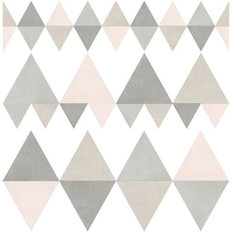 Fine Decor Wallpaper | Trilogy Geo Blush Pink | FD25128
