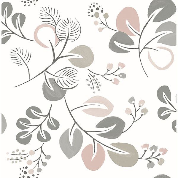 Fine Decor Wallpaper | Jona Trail Blush Pink | FD25125