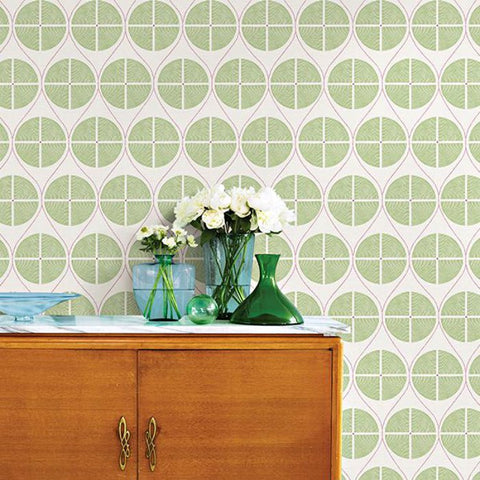 A Street Prints Wallpaper | Luminary Circle Green | FD25426