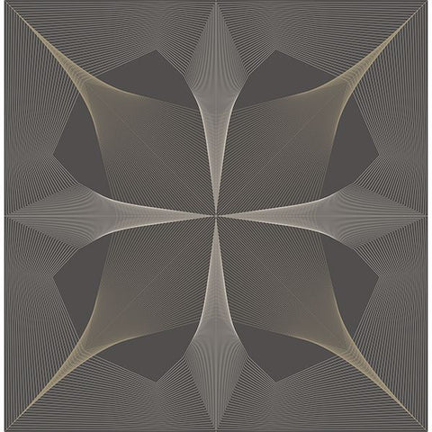 Fine Decor Wallpaper | Radius Choc/Gold | FD25525
