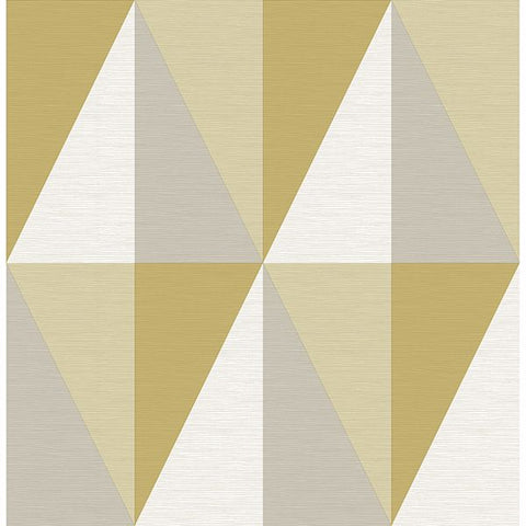 Fine Decor Wallpaper | Aspect Geo Yellow | FD25538
