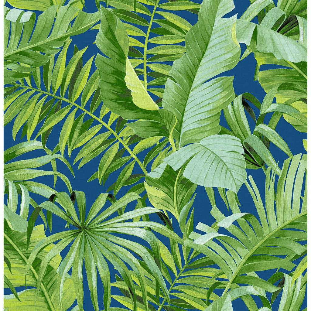 Tropical Palm Navy/Green