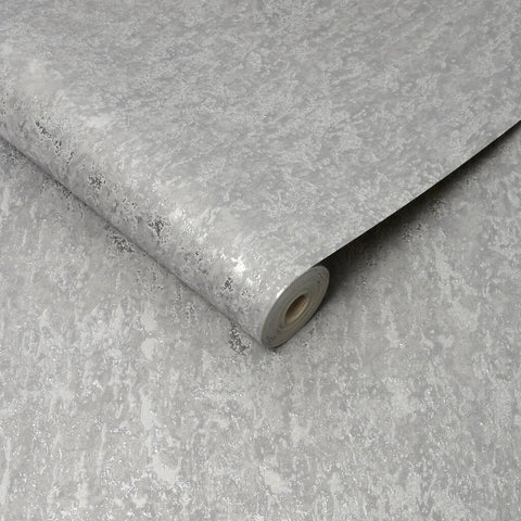 G&B Superfresco Wallpaper | Milan Grey/Silver | 100491