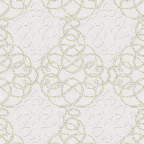 Boutique Ribbon Dance Ivory Gold