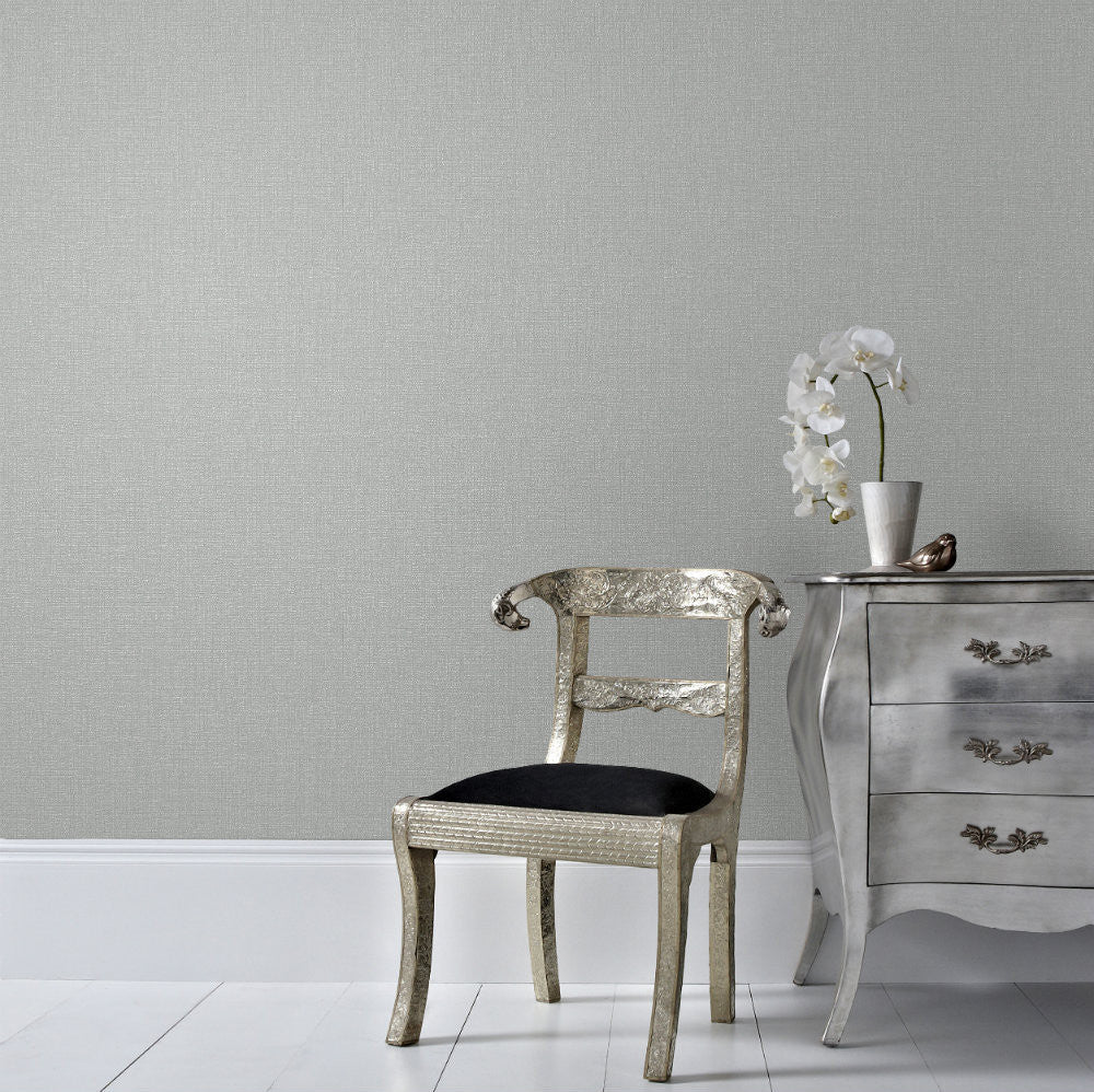G&B Wallpaper | Boutique Chenille Grey/Silver | 101464