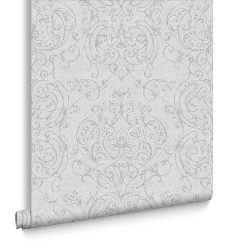 Graham & Brown Wallpaper | Empress Damask Grey | 101871