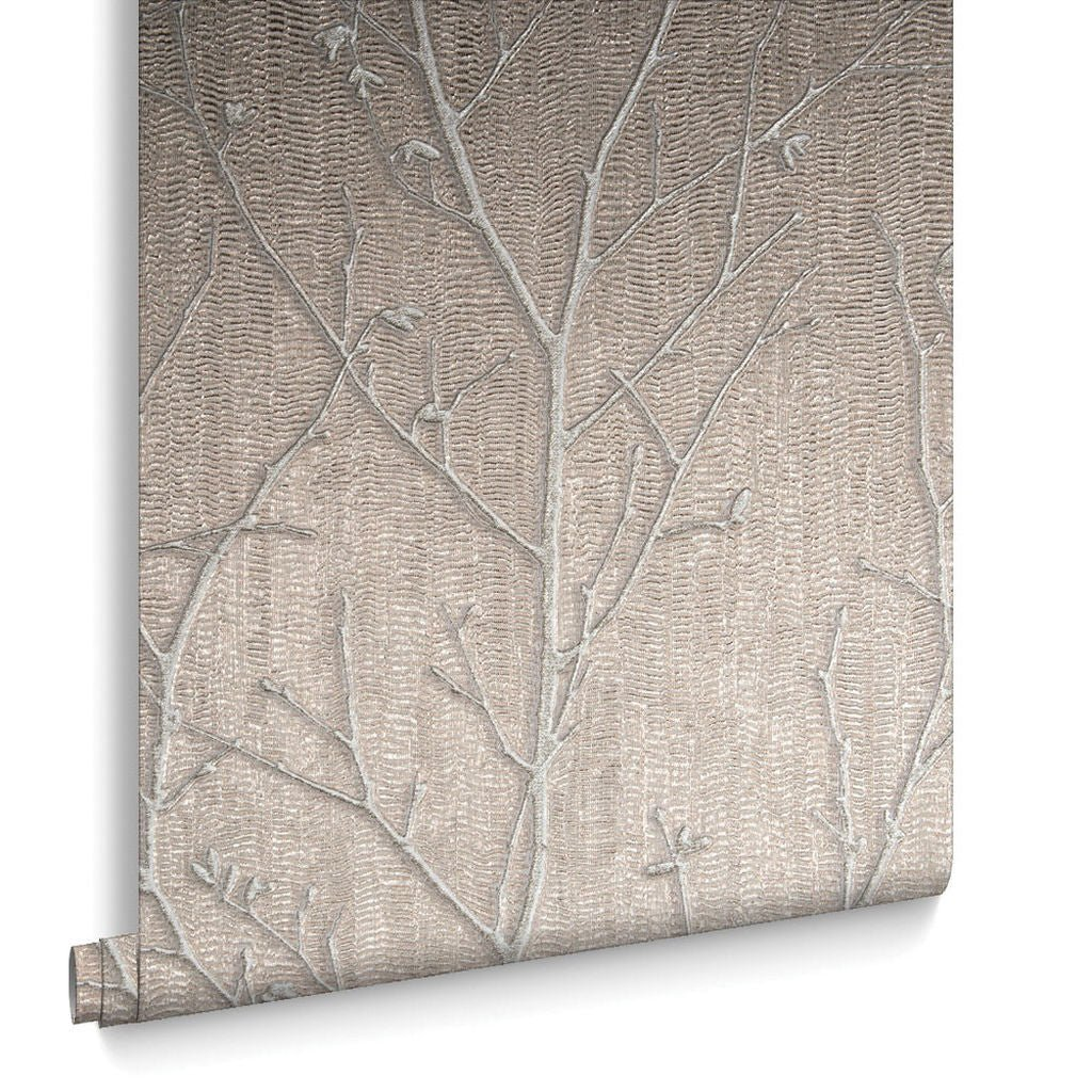 Graham & Brown Wallpaper | WaterSilk Sprig Rose Gold | 104757