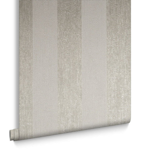 Graham & Brown Wallpaper | WaterSilk Stripe Ivory/Taupe | 104766