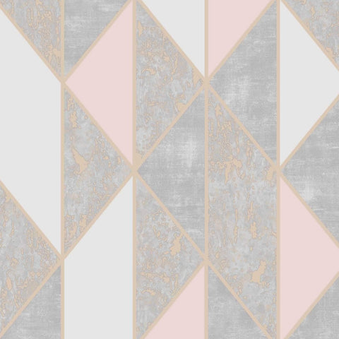 G&B Superfresco Wallpaper | Milan Geo Blush Pink | 106532