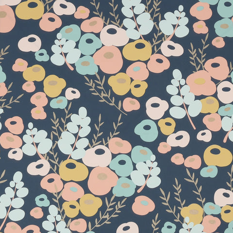 Lily Navy/Multi | Graham & Brown Wallpaper | 106177