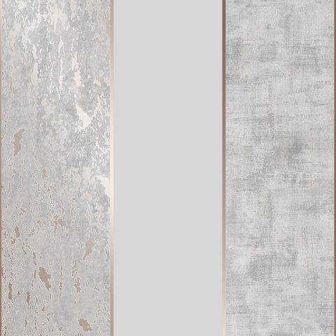 G&B Superfresco Wallpaper | Milan Stripe Rose Gold | 106516