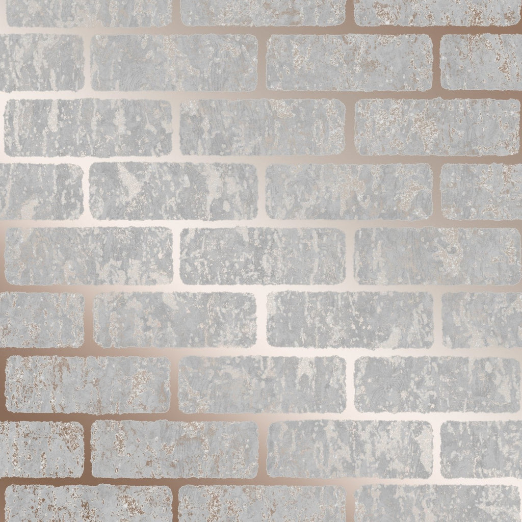 G&B SuperFresco Wallpaper | Milan Brick Rose Gold | 106522