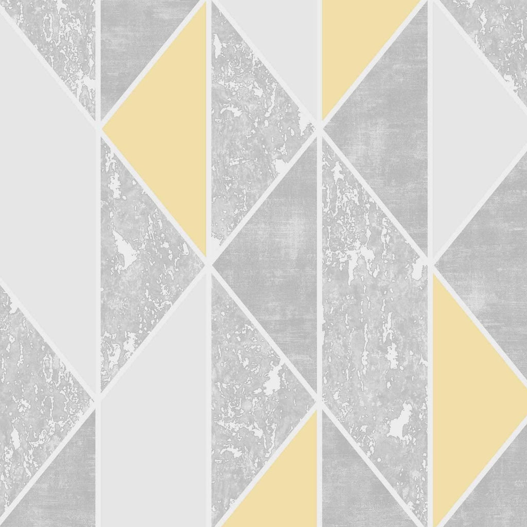 G&B Superfresco Wallpaper | Milan Geo Yellow | 106533