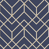 G&B SuperFresco Easy Wallpaper | Losanges Filaires Navy/Gold | 106568