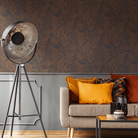 G&B SuperFresco Wallpaper | Fenne Dark Orange | 106980
