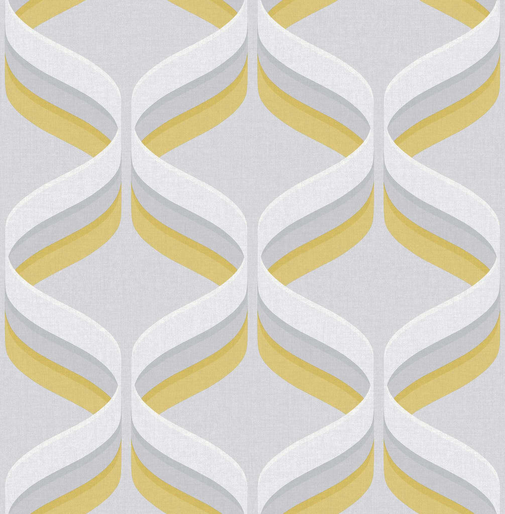 Graham & Brown Fresco Wallpaper | Retro Ogee Yellow | 107978