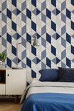 Marble Geo Navy Wallpaper | Graham & Brown Sublime 108295