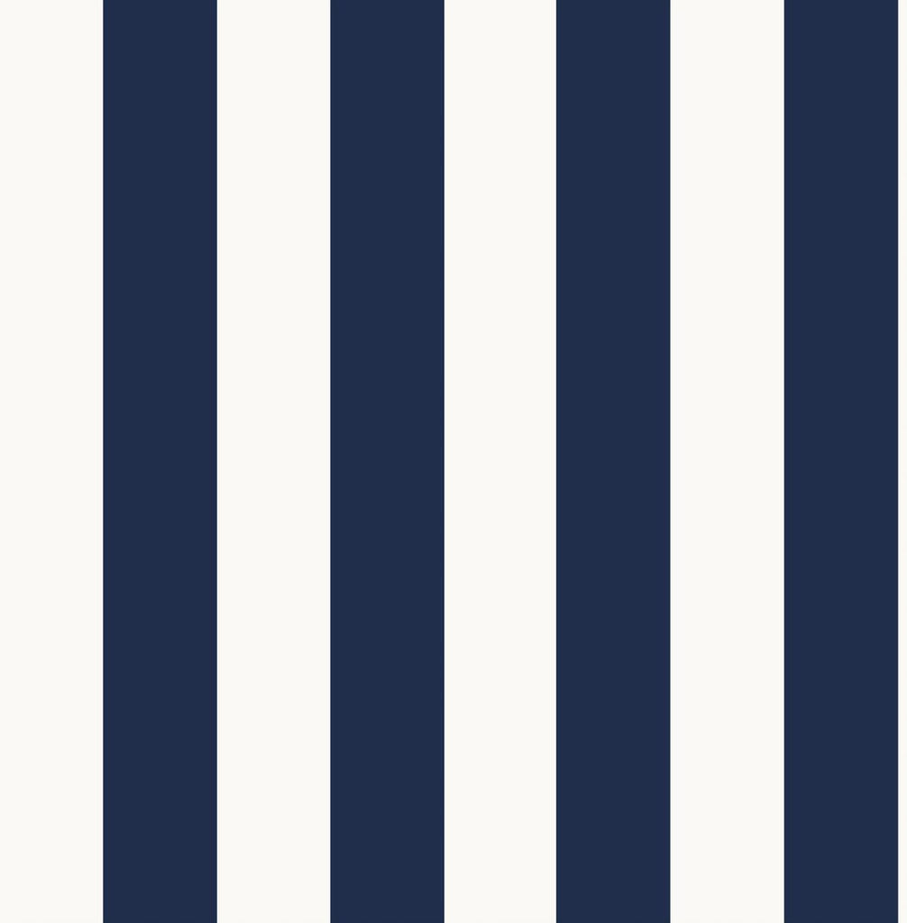 Stripe Navy/White Wallpaper | Graham & Brown Fresco 108557