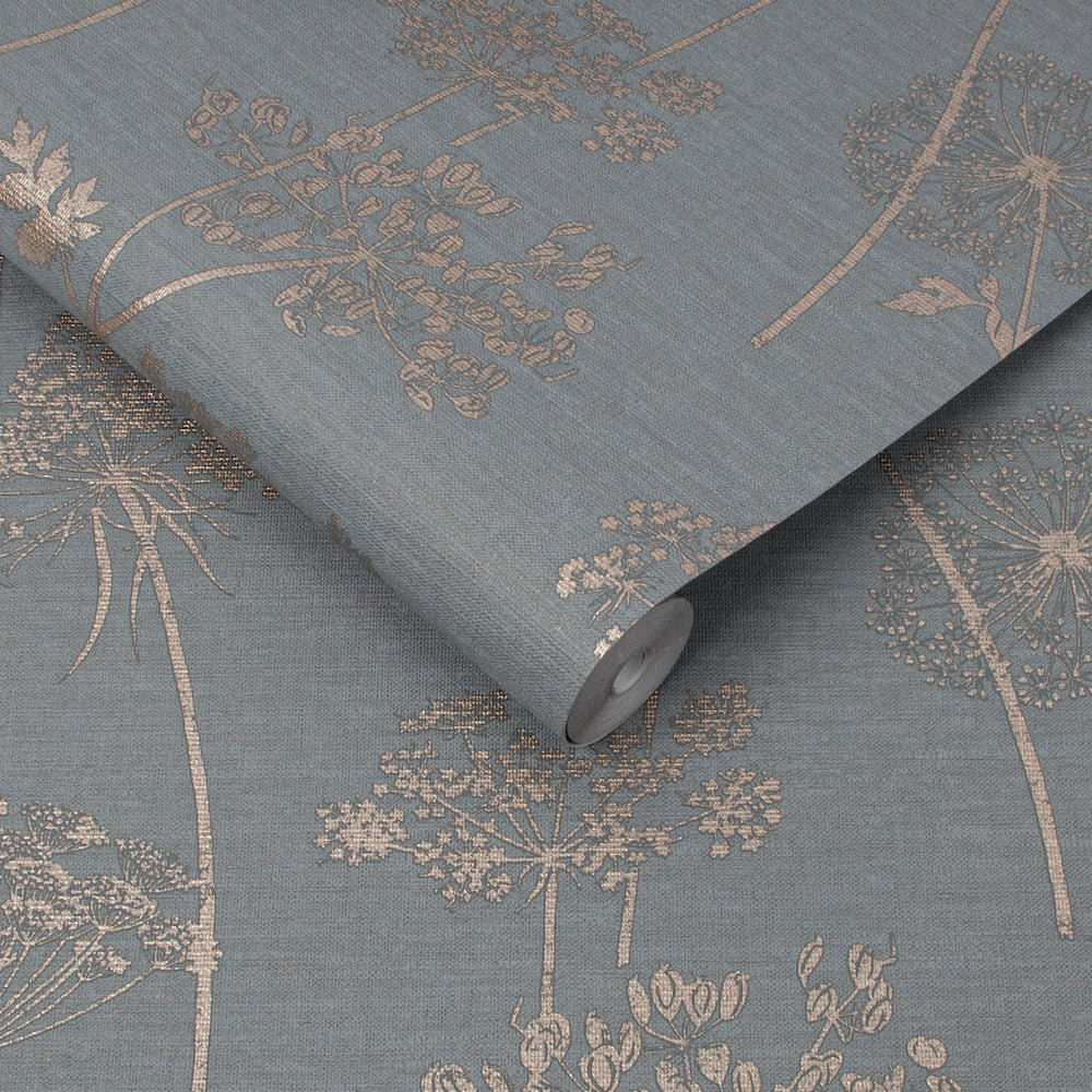 Wild Flower Charcoal/Rose Gold Wallpaper | Graham & Brown 108608 Superfresco Easy