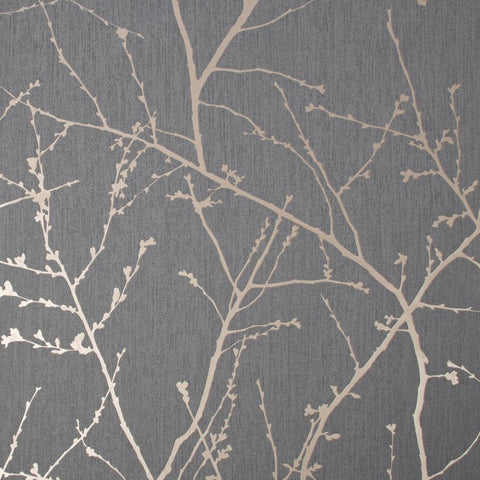 Innocence Charcoal/Copper Wallpaper | Graham & Brown 108612 Superfresco Easy Collection