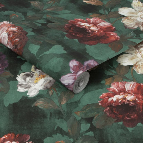 Isabelle Green Wallpaper | Graham & Brown 108615 Superfresco Easy Collection