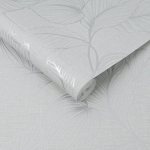 Royal Palm Moonstone Grey Wallpaper | Graham & Brown 111300 Boutique Collection