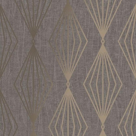 Marquise Geo Smokey Quartz Wallpaper | Graham & Brown 111311 Boutique Collection