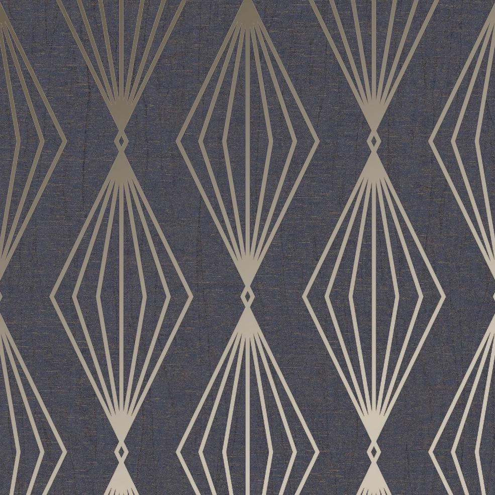 Marquise Geo Sapphire Wallpaper | Graham & Brown 111312 Boutique Collection