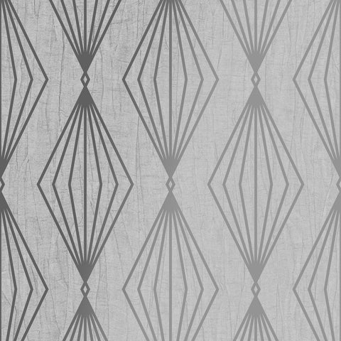 Marquise Geo Moonstone Grey Wallpaper | Graham & Brown 111314 Boutique Collection