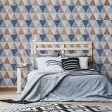 Harlequin Navy/Rose Gold Wallpaper | Graham & Brown 111399