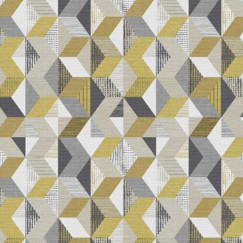 Tribal Geo Yellow/Grey Wallpaper | Graham & Brown 111407