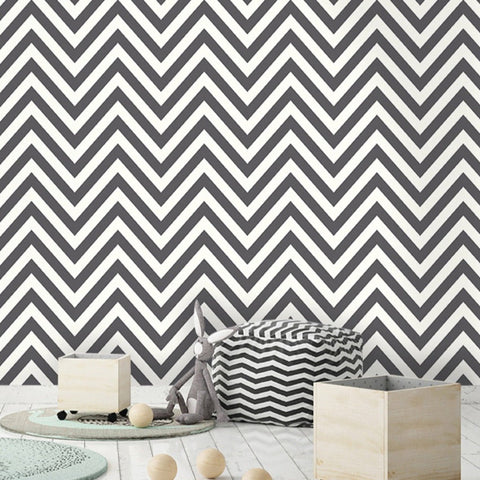 Chevron Black/White | Holden Wallpaper | 12574