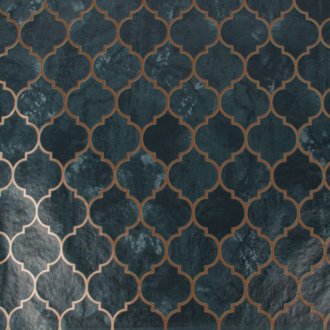 Tegula Teal/Copper | G&B Contour Wallpaper | 112643
