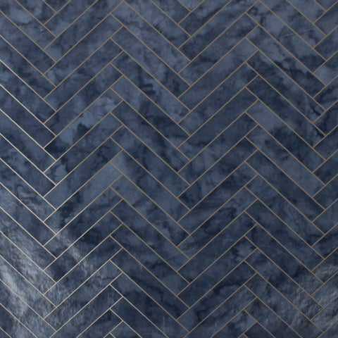 Marble Chevron Navy | G&B Contour Wallpaper | 112645