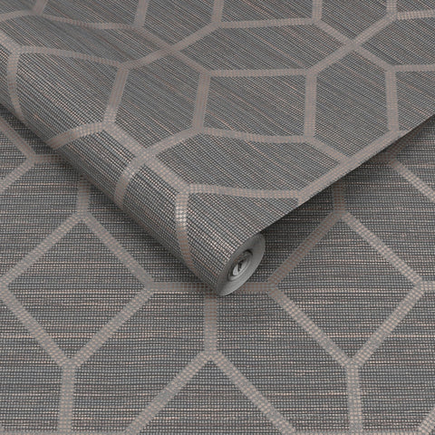 Asscher Geo Grey | Graham & Brown Wallpaper | 112661