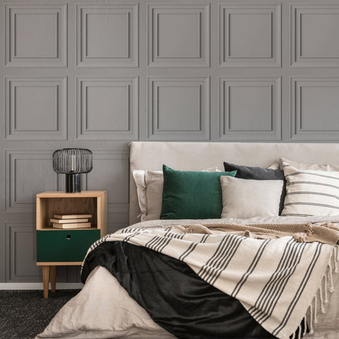 Wood Panel Soft Grey | Graham & Brown Wallpaper 113257