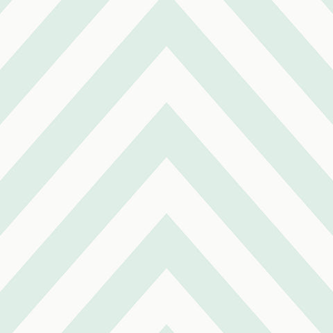 Holden Kids Wallpaper - Chevron Soft Teal - 12570