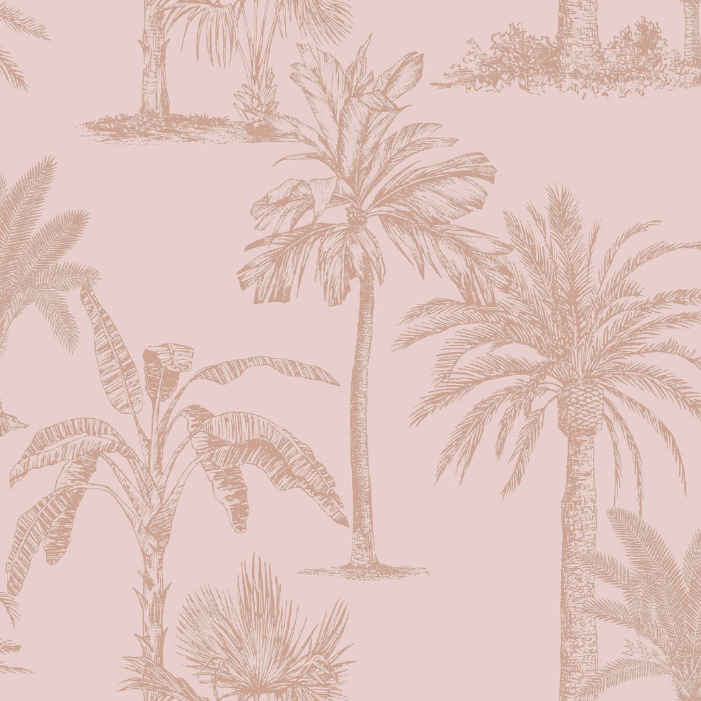 Holden Statement Wallpaper | Tropical Tree Blush Pink | 12822