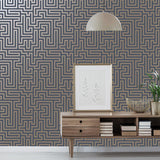 Glistening Maze Navy | Holden Decor Wallpaper | 12913