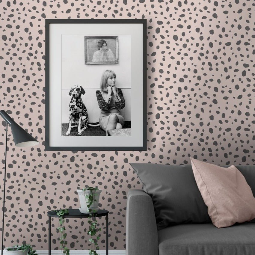 Dalmatian Spot Blush Pink Wallpaper | Holden Decor | 12941