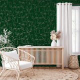 Abstract Faces Green/Gold | Holden Statement Wallpaper | 12990