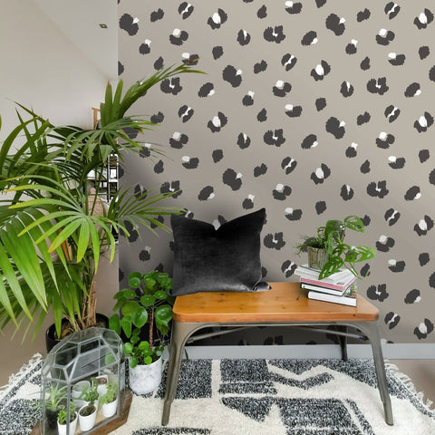Large Leopard Spot Taupe | Holden Statement Wallpaper | 13030