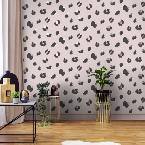 Large Leopard Spot Pink | Holden Statement Wallpaper | 13031