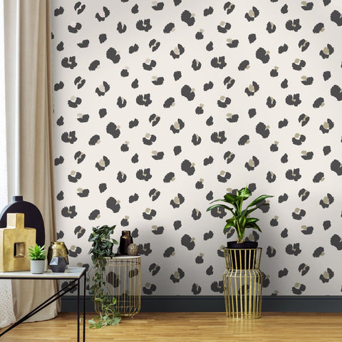 Large Leopard Spot Cream | Holden Statement Wallpaper | 13032