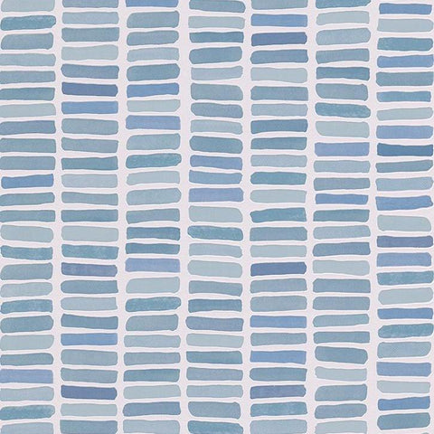 CLEARANCE Erismann Wallpaper | Mosaic Tile Blue Mix | 6876-08
