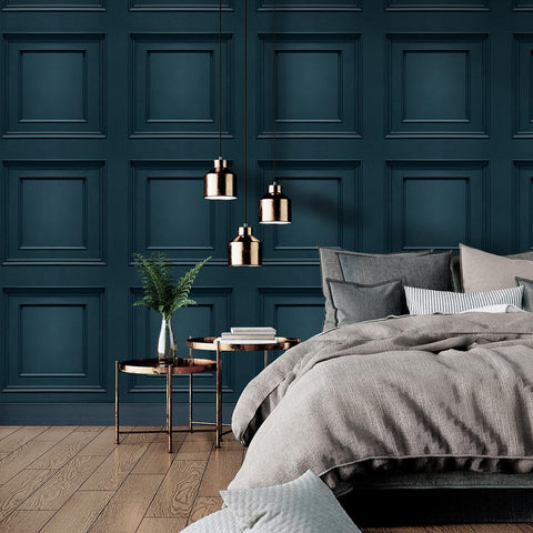 Oliana Panel Navy | Belgravia Wood Panel | 8490