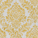 Eleanor Damask Ochre Yellow | Muriva Wallpaper 173512