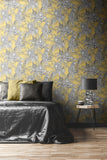 Mamboa Tropical Ochre Yellow | Muriva Wallpaper 173522