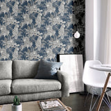 Mamboa Tropical Silver Grey | Muriva Wallpaper 173523