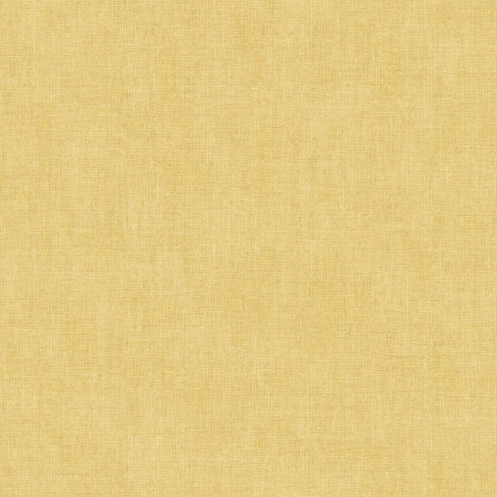 Shimmer Linen Ochre Yellow | Muriva Wallpaper 173532